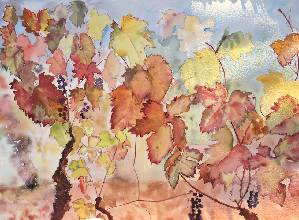 provence-paintprovencewithtess_vineyard-chateau-les-crostes