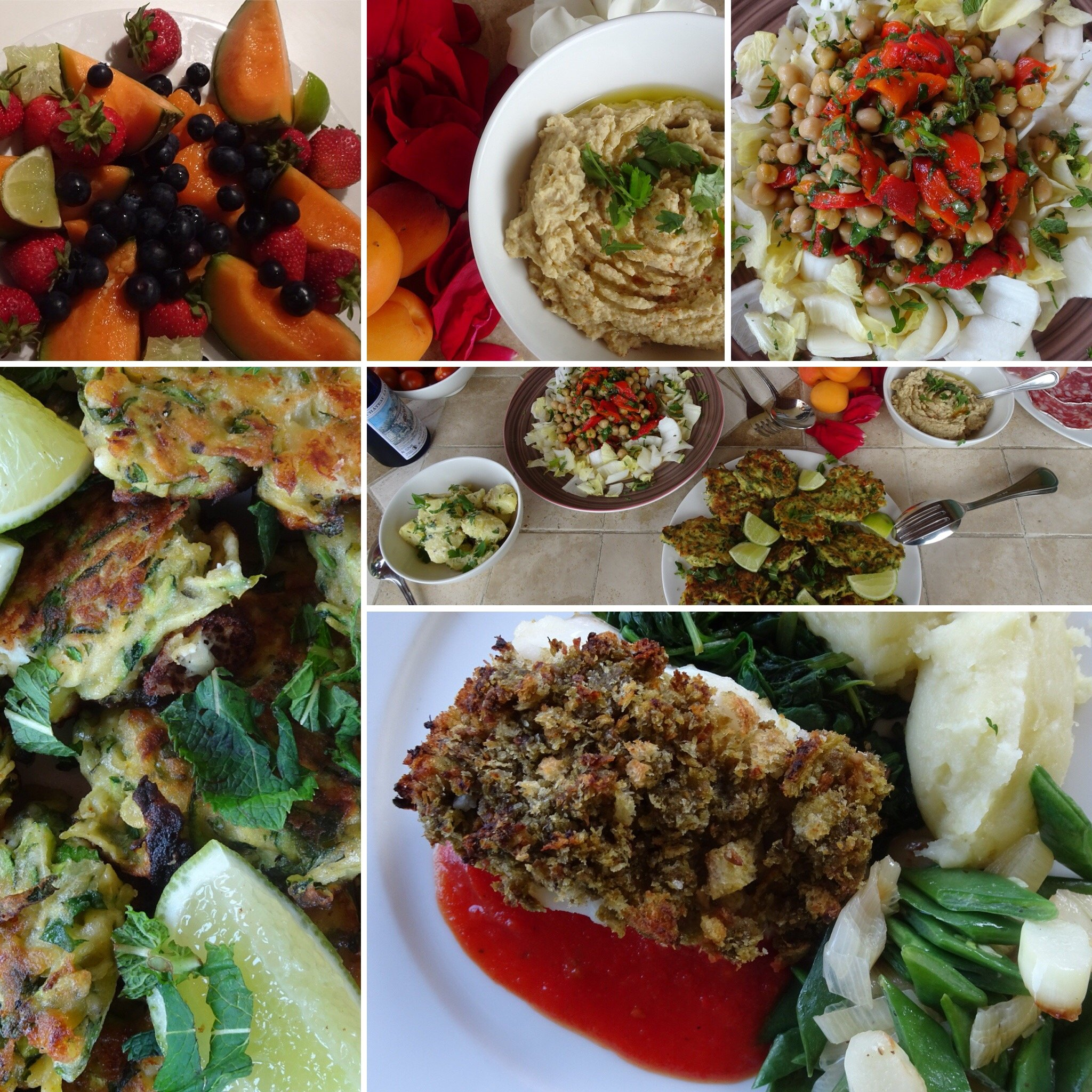 pot pouri of wonderful food in provence