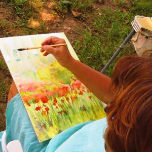 Painting Poppies in Roussillon