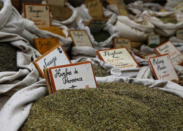 Herbs at the market