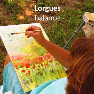 Lorgues - poppies - watercolour